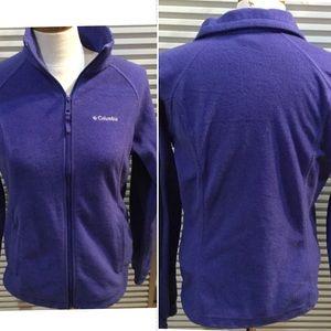"COLUMBIA szM purple polar fleece zip jacket B42"""